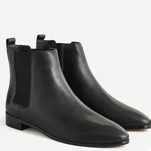 J.Crew Leather Chelsea Pull On Boots, Size 9